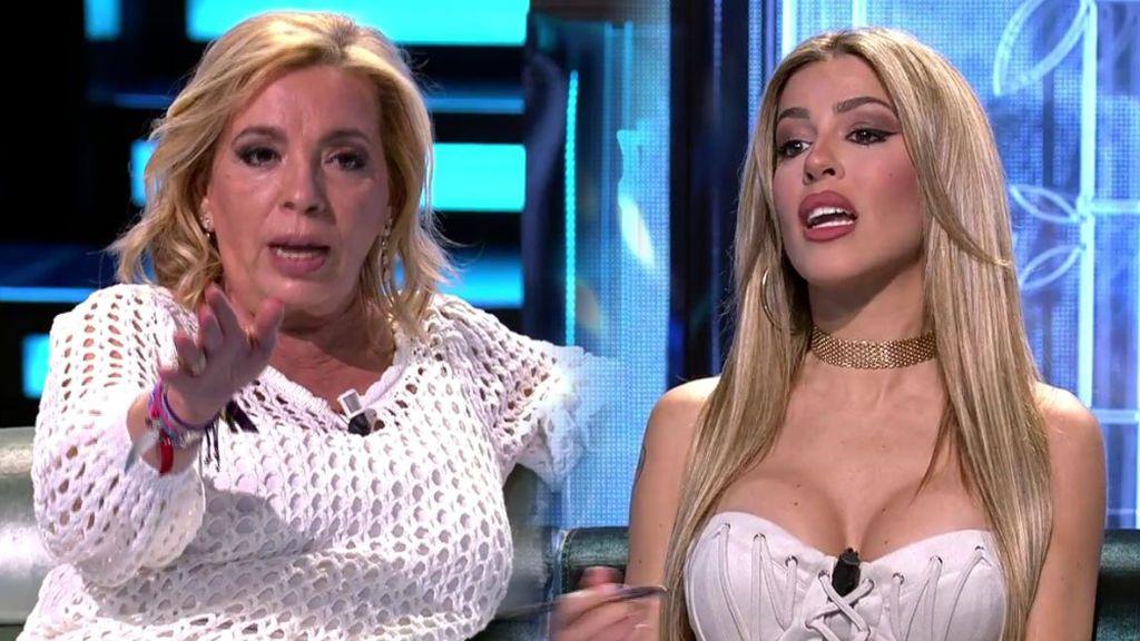 Un gran 'zasca' de Carmen Borrego hace 'brotar' a Oriana contra ella