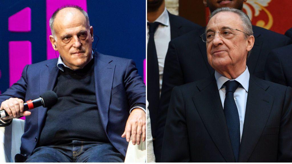 """Javier Tebas lanza un órdago a Florentino Pérez: """"En 2020 ya dije que estaba despistado, y ahora está perdido"""""""
