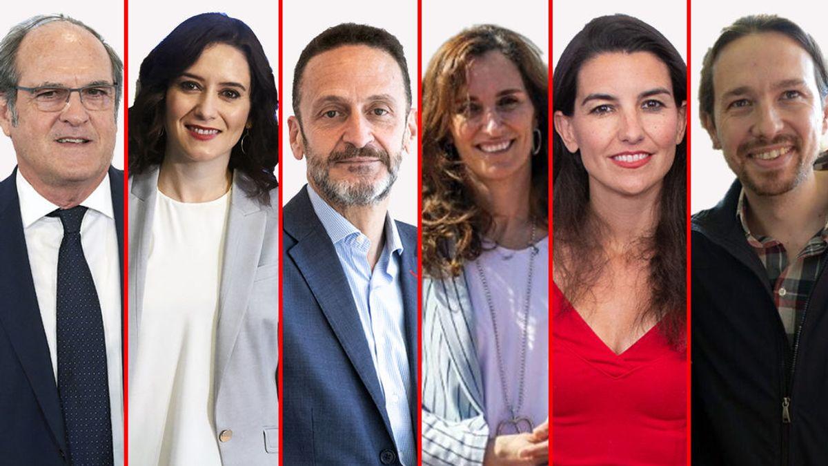 Los 6 candidatos a las elecciones en Madrid se enfrentan en el único debate de la campaña