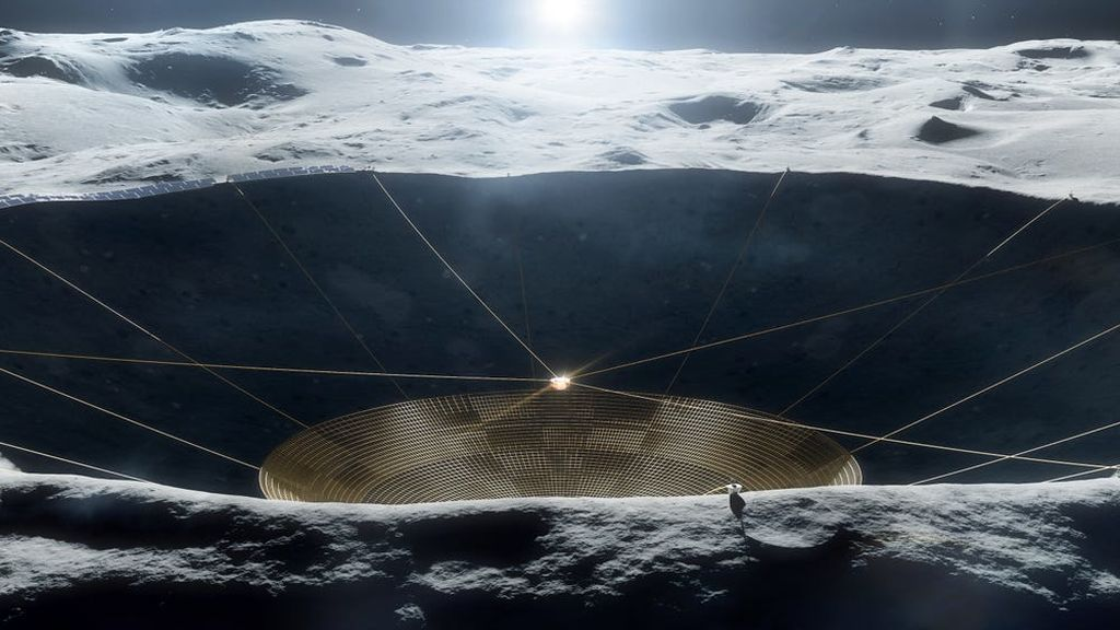 ¿Te suena el telescopio de Arecibo? La NASA quiere construir uno similar en la Luna