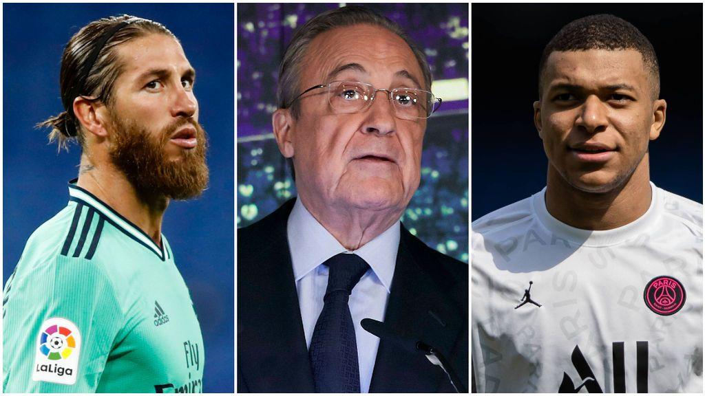 """Florentino Pérez se mostró """"tranquilo"""" con Mbappé."""