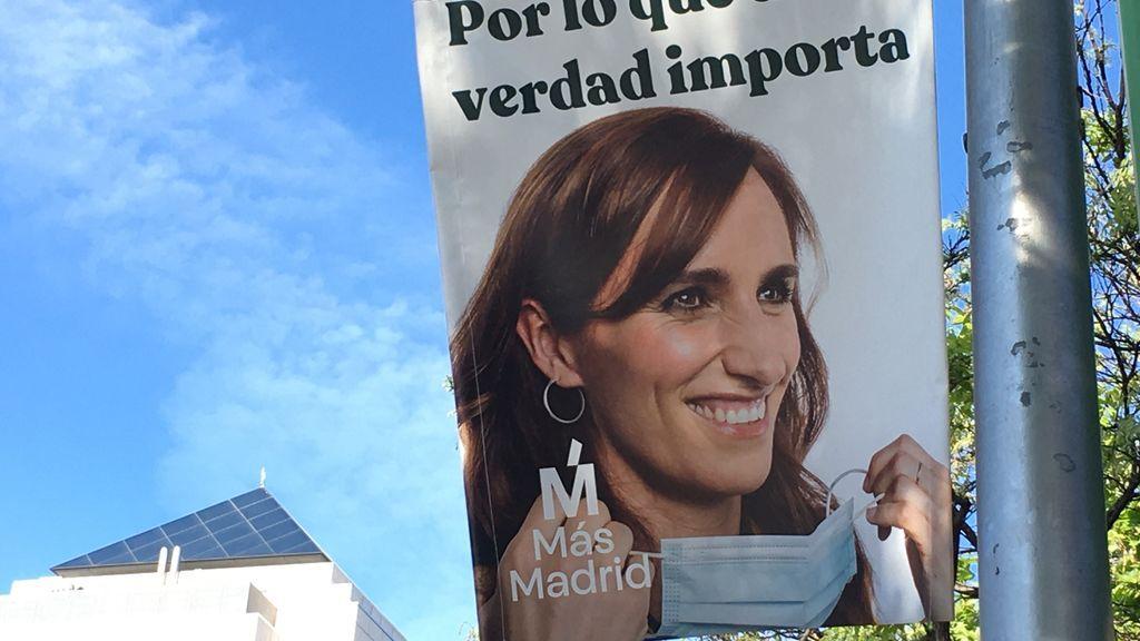 Cartel electoral de Más Madrid