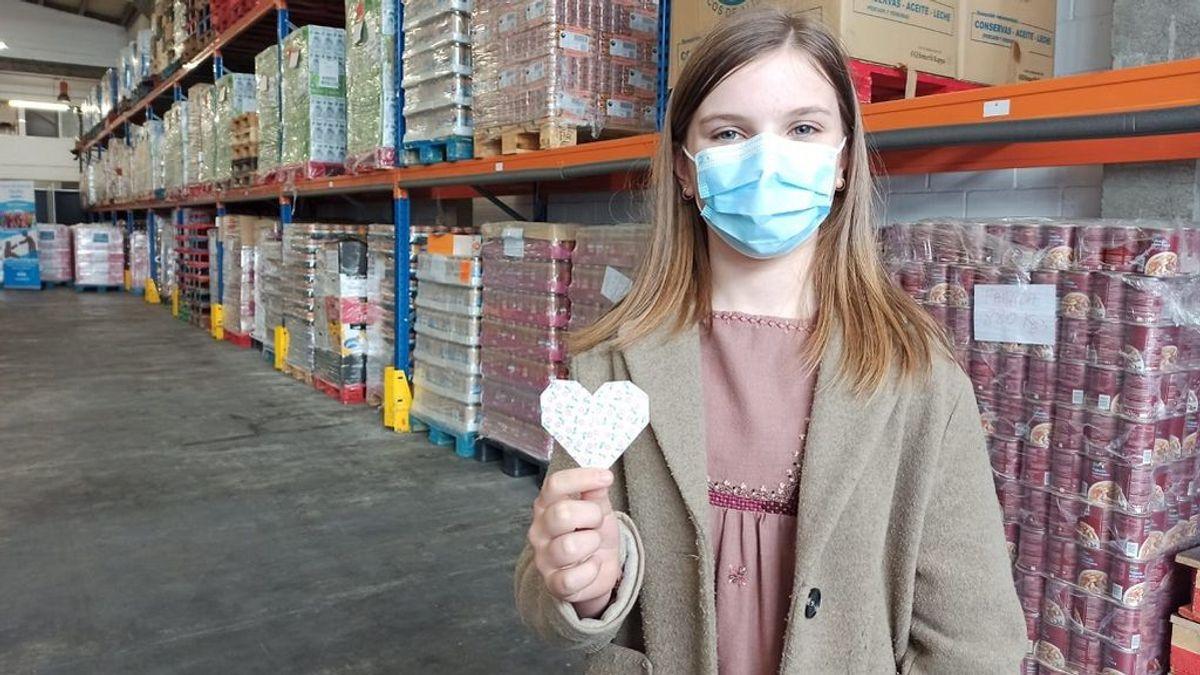La historia de Martina, la niña benefactora por la que se interesó la reina emérita en su visita a Galicia