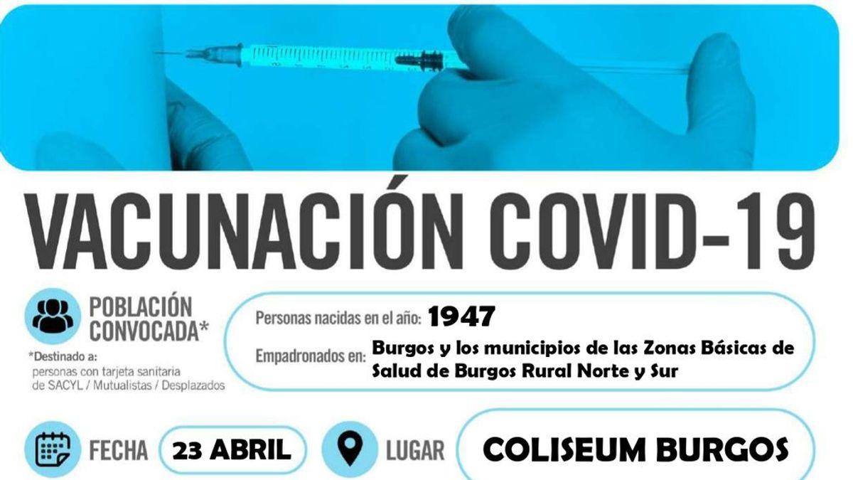 Burgos opta por ser práctico a la hora de citar a sus ciudadanos para vacunarse