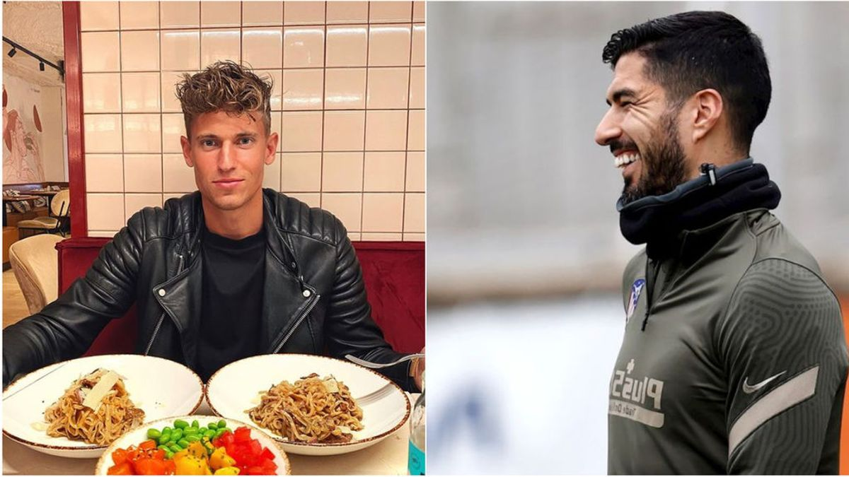 """Marcos Llorente presume de ayunar durante un día entero y Luis Suárez le responde: """"Péinate, empieza a comer"""""""