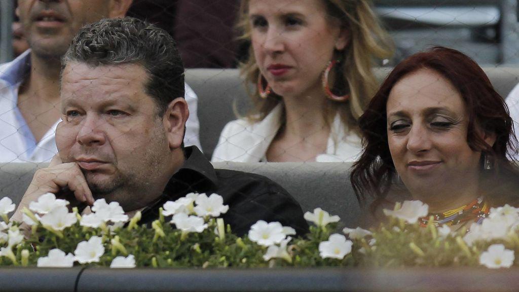 Chicote y su mujer, en el Open de Madrid de 2014