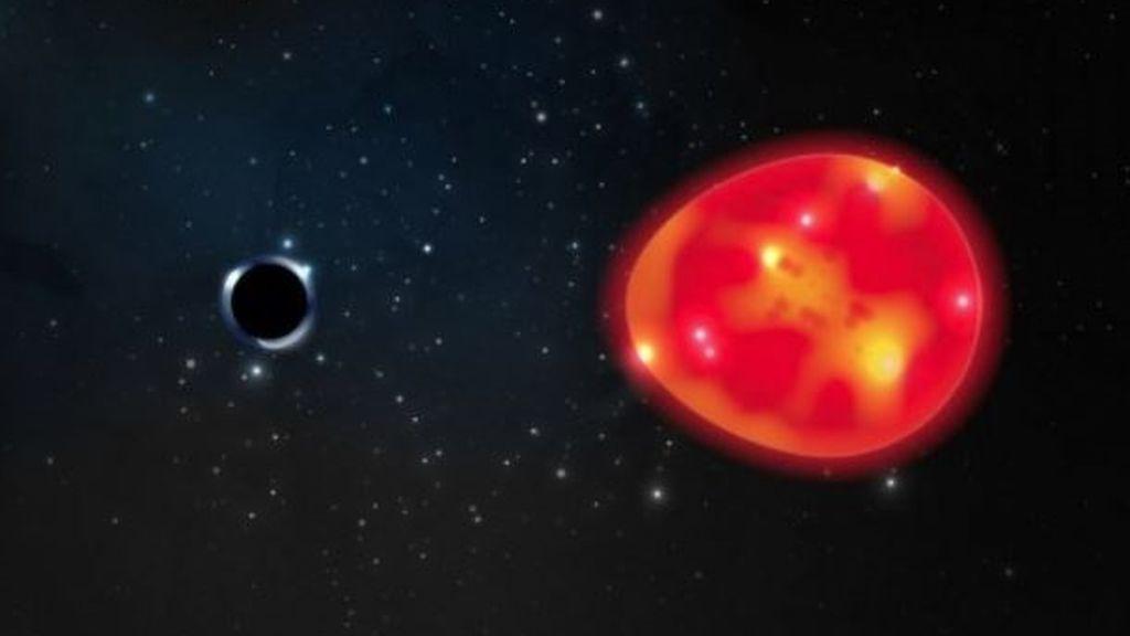 Detectan el agujero negro más cercano a la Tierra, tres veces más masivo que el Sol