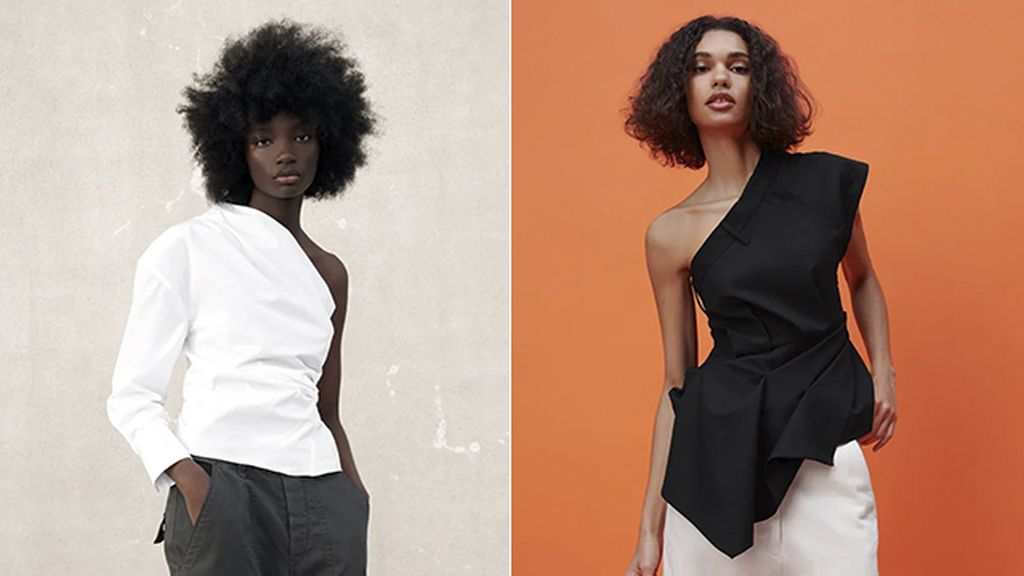 Tops asimétricos de Zara