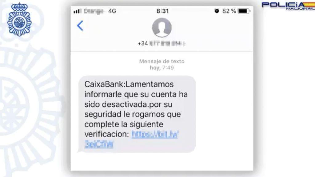 La Policía alerta del último caso de Phishing : un SMS de CaixaBank intenta robar tus datos