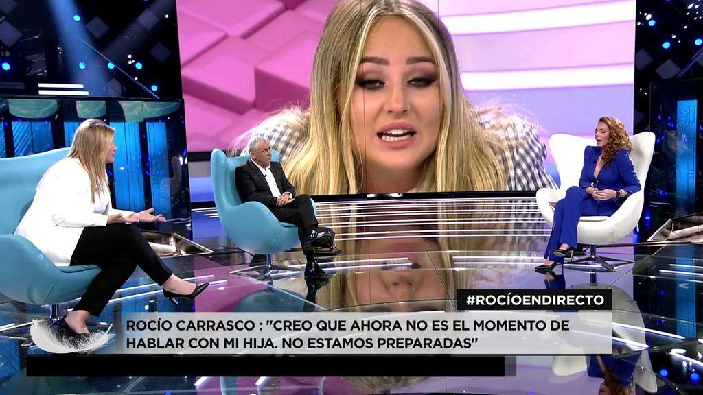 Rocio Carrasco en plató habla sobre Rocio Flores