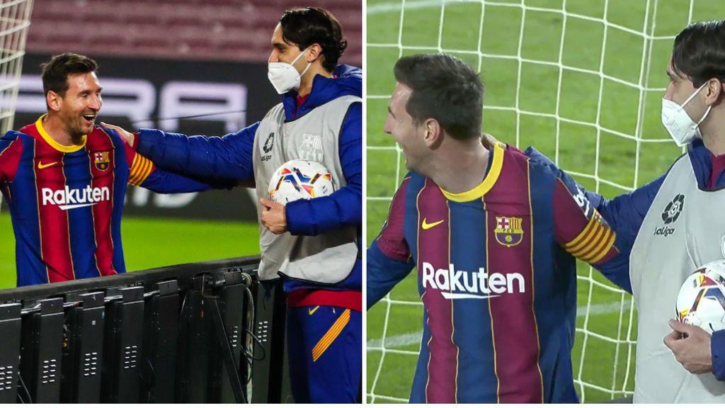 Messi irradia felicidad: partidazo ante el Getafe y celebración con uno de los recogepelotas
