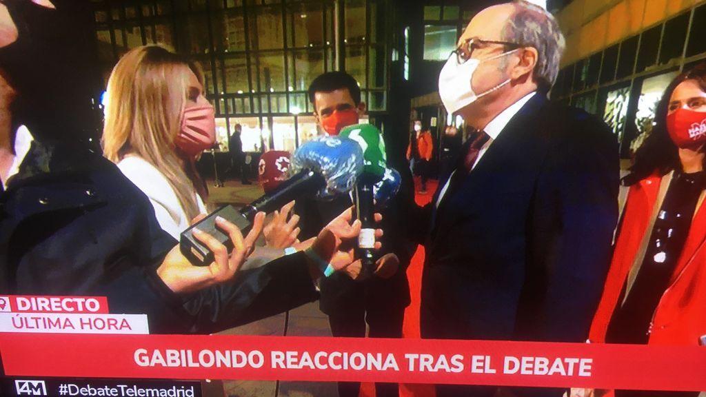 Imagen de la emisión televisiva del debate electoral
