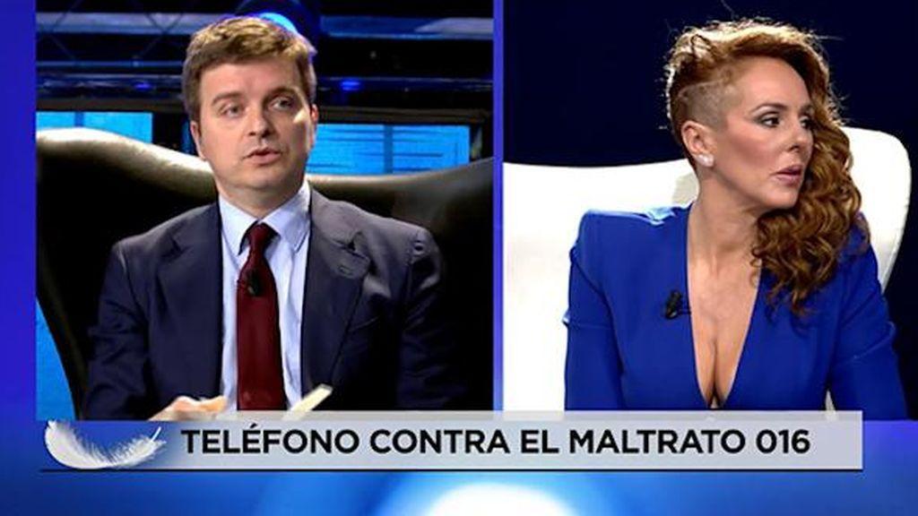Marc Giró, durante la entrevista a Rocío Carrasco