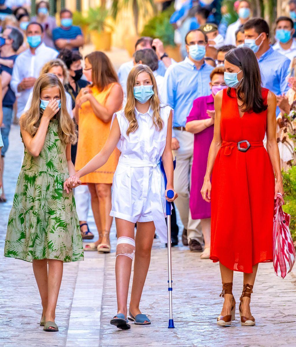 La accidentada llegada de la infanta a Mallorca