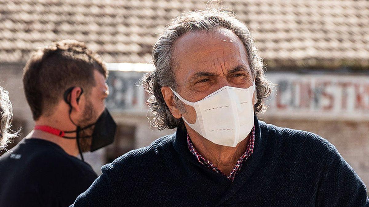 José Coronado en el rodaje de 'Entrevías'