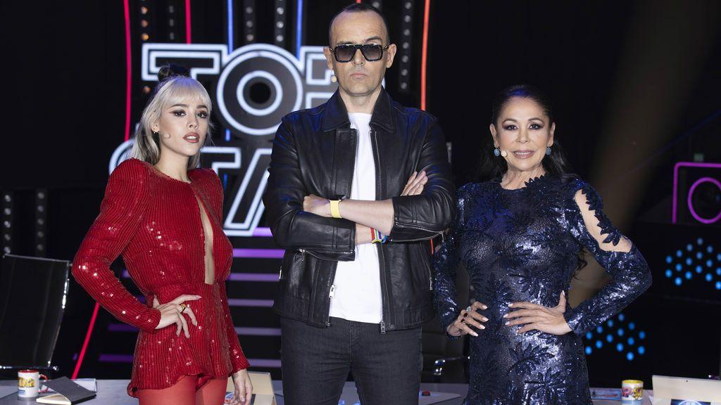 Danna Paola, Isabel Pantoja y Risto Mejide hablan de 'Top Star. ¿Cuánto vale tu voz?'