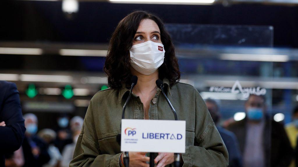 Isabel Díaz Ayuso presenta la propuesta para el transporte de Madrid de cara a las elecciones del 4M