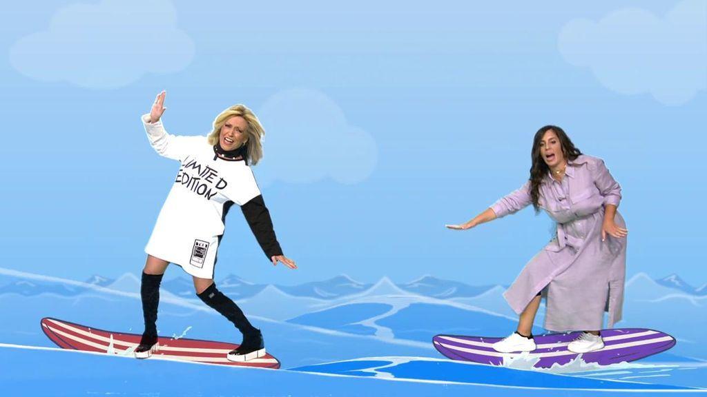 Lydia Lozano y Anabel Pantoja surfean las olas que ha provocado Omar Sánchez en 'Supervivientes'