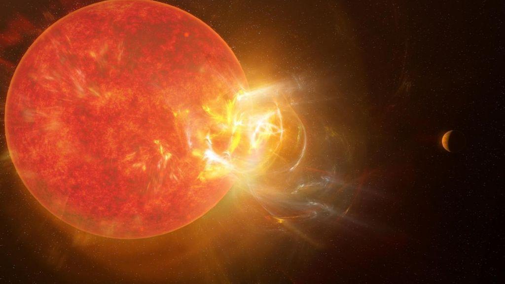 Una llamarada récord ha estallado desde la estrella más cercana a nuestro sistema solar