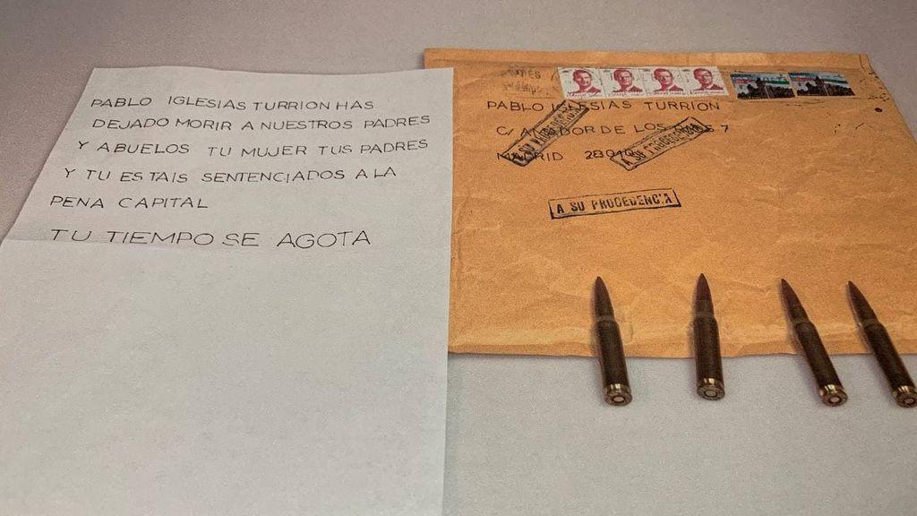 """Pablo Iglesias sobre la carta con balas que le enviaron: """"Están amenazando la democracia"""""""