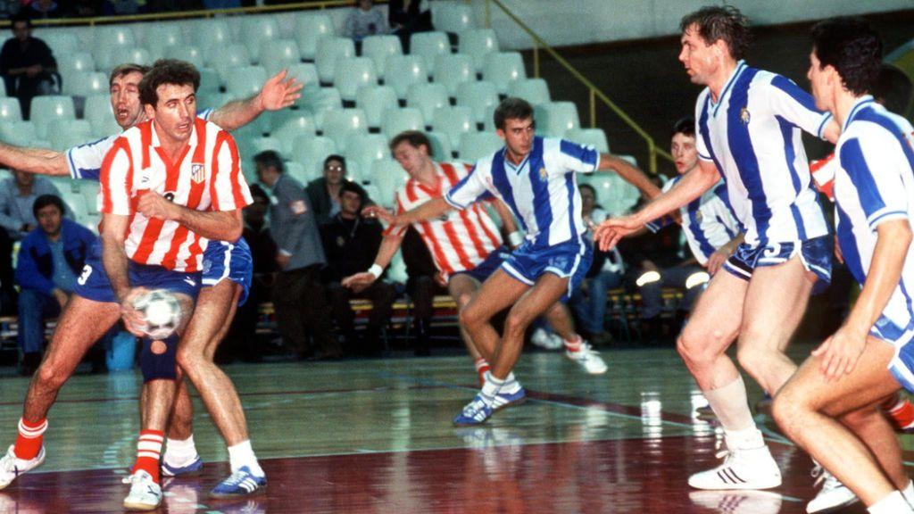 Cecilio Alonso, en un partido con el Atlético de Madrid