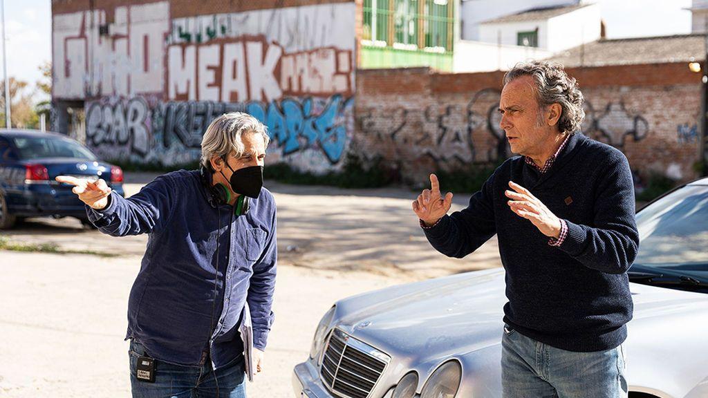 Jose Coronado, rodando una escena de 'Entrevías'