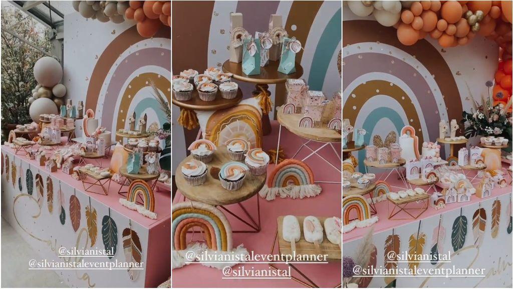mesa dulce bautizo Camila Ungría Tablada