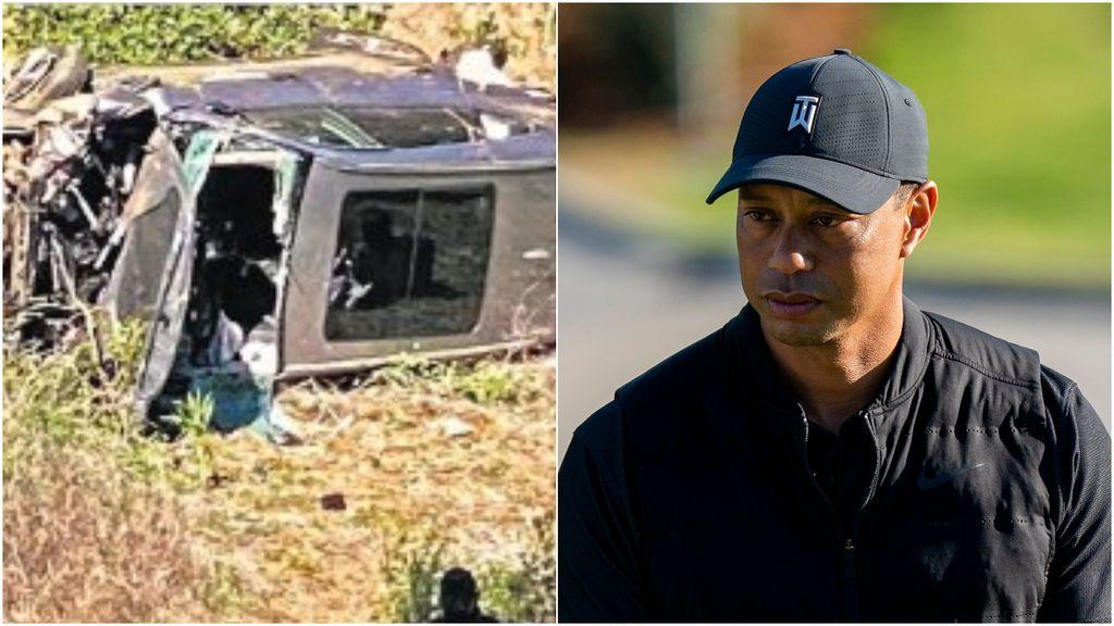 """Tiger Woods reaparece tras su grave accidente de coche: """"Es agradable tener un compañero de rehabilitación fiel"""""""