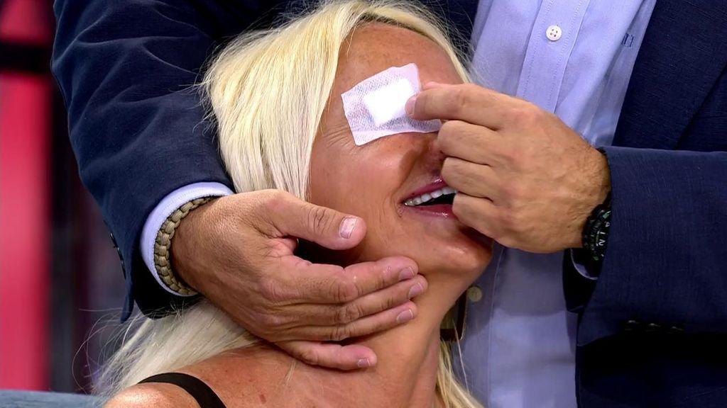 Leticia Sabater muestra su ojo tras su última operación
