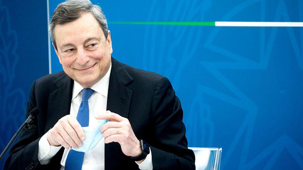 Draghi desvela su plan para los fondos UE con las primeras grietas en su Gobierno