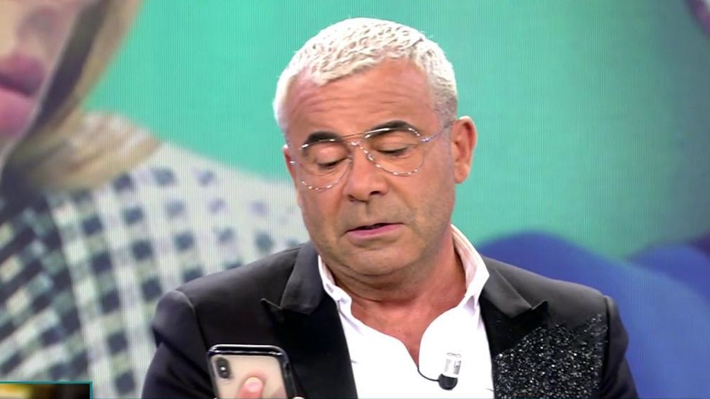 Jorge Javier Vázquez lee el mensaje de Carlota Corredera