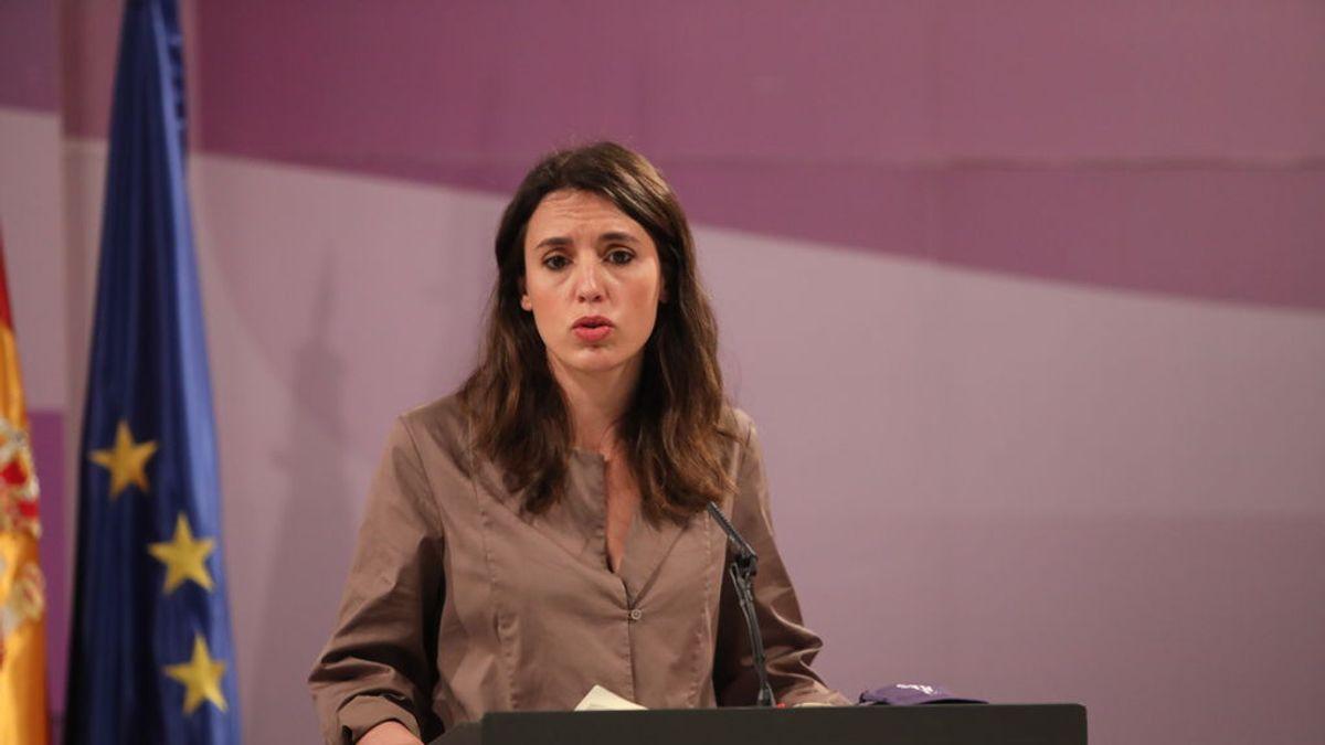 La ministra de Igualdad, Irene Montero, pide  perspectiva de género al conocer la nueva condena a Juana Rivas