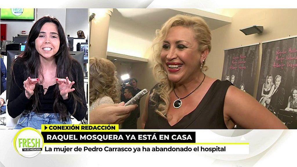Raquel Mosquera recibe el alta tras más de 10 días ingresada en el hospital
