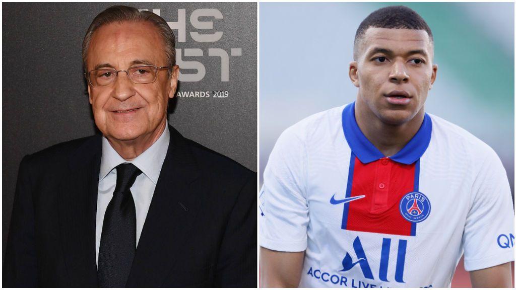 Florentino Pérez tiene que pensar la fórmula para intentar el fichaje de Mbappé.