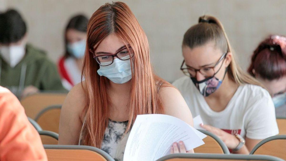 La EBAU de 2021 se hará con mascarilla y con las ventanas abiertas durante el examen