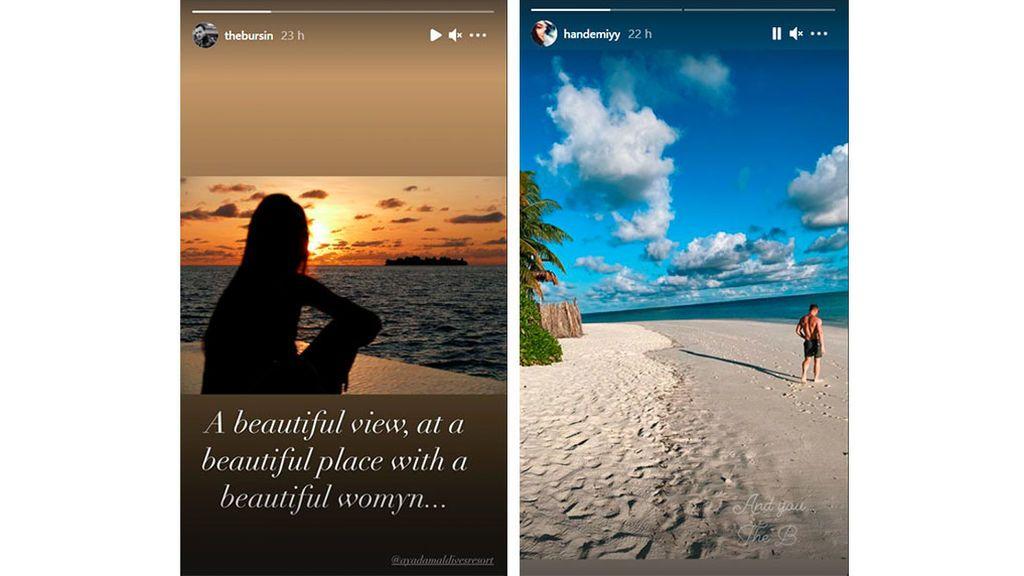 Imágenes compartidas por los actores desde Maldivas