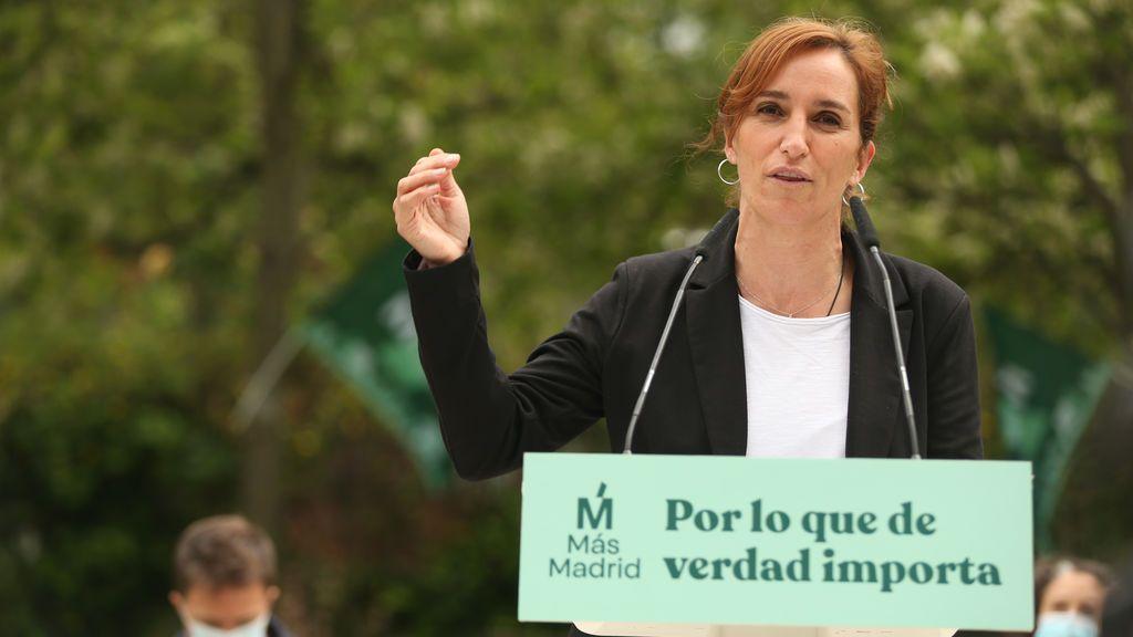 Mónica García en un mitin