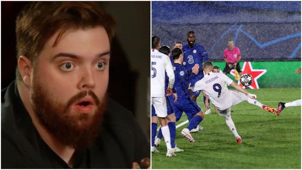 """La reacción de Ibai Llanos ante el gol de Benzema: """"Te amo mucho"""""""