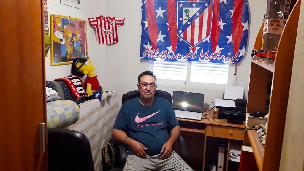 José, fan del Atlético de Madrid