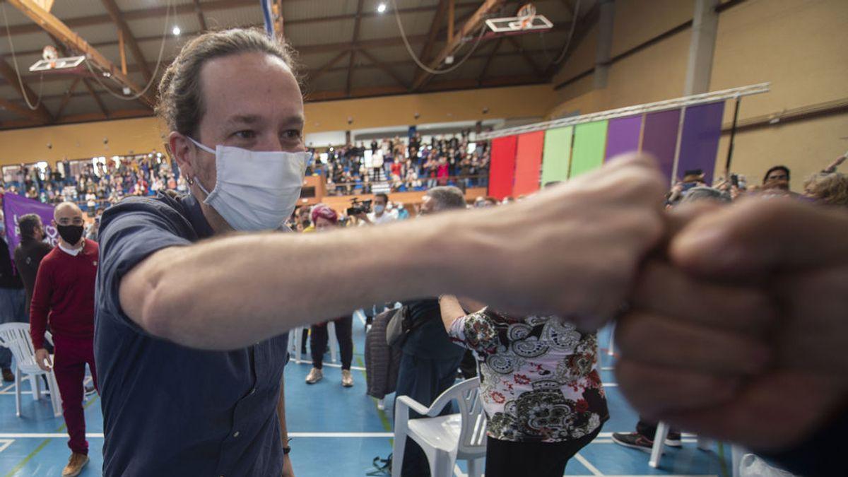 """Iglesias confía en la movilización para darle la vuelta a las encuestas y avisa: """"El PP ya tiene un pacto con Vox"""""""