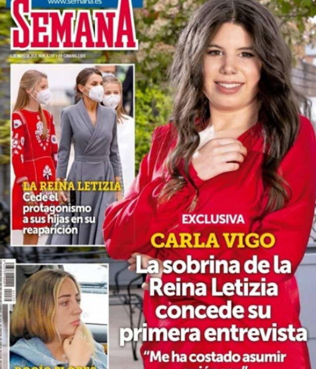 Carla Vigo, en la revista Semana