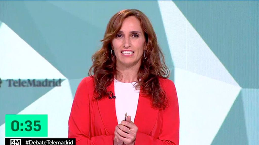 Mónica García en el debate del 4M
