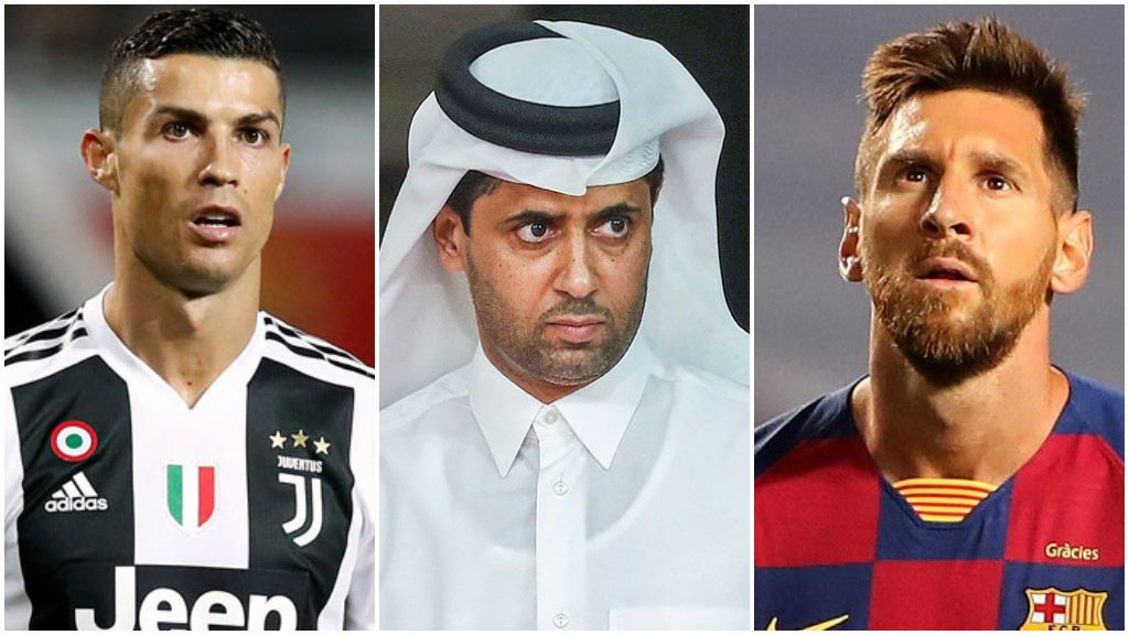 El bombazo con el que sueña Al-Khelaifi: juntar a Neymar con Messi y Cristiano Ronaldo en París