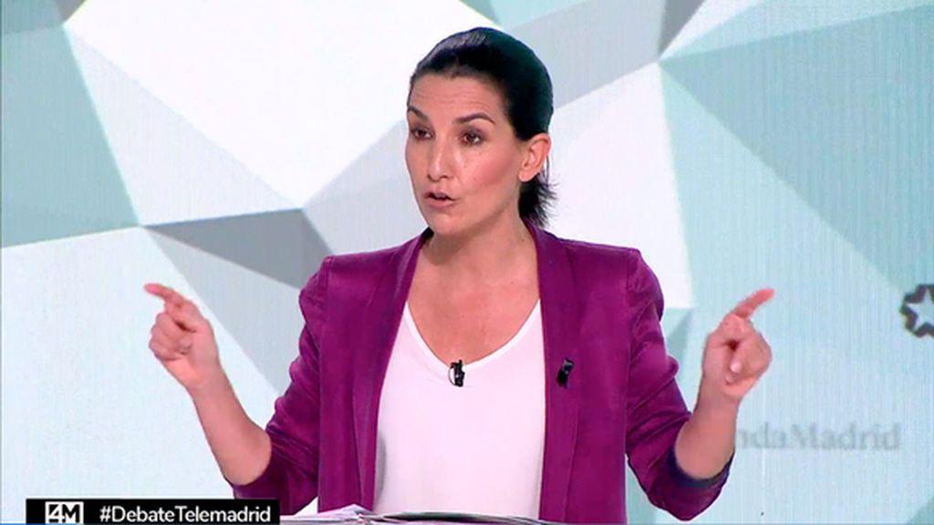 Rocío Monasterio en el debate del 4M