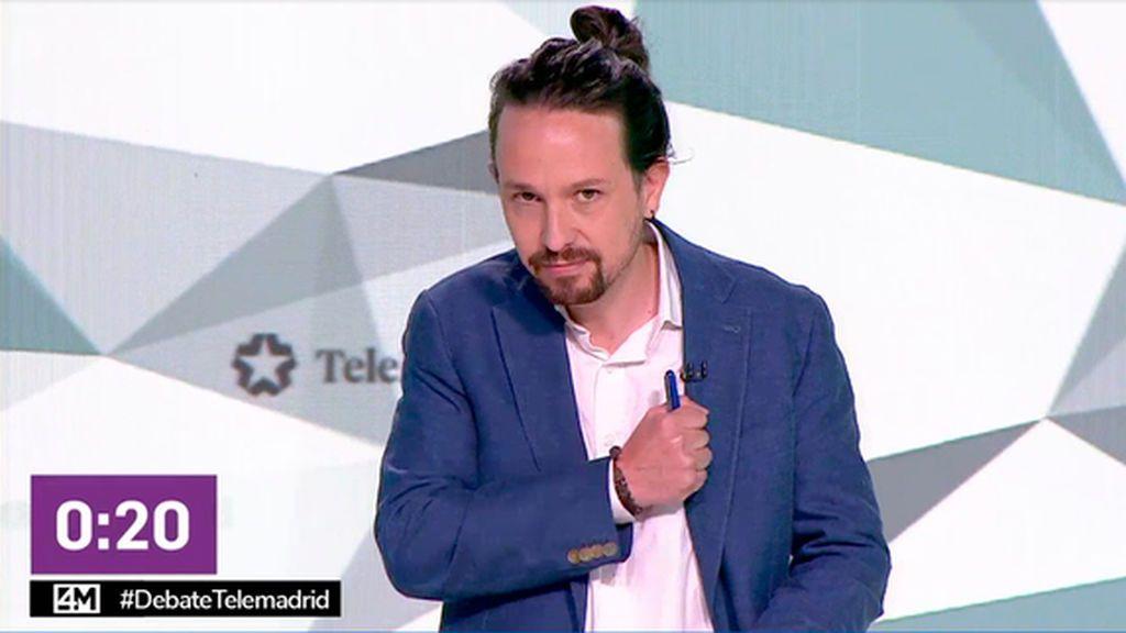 Pablo Iglesias en el debate del 4M