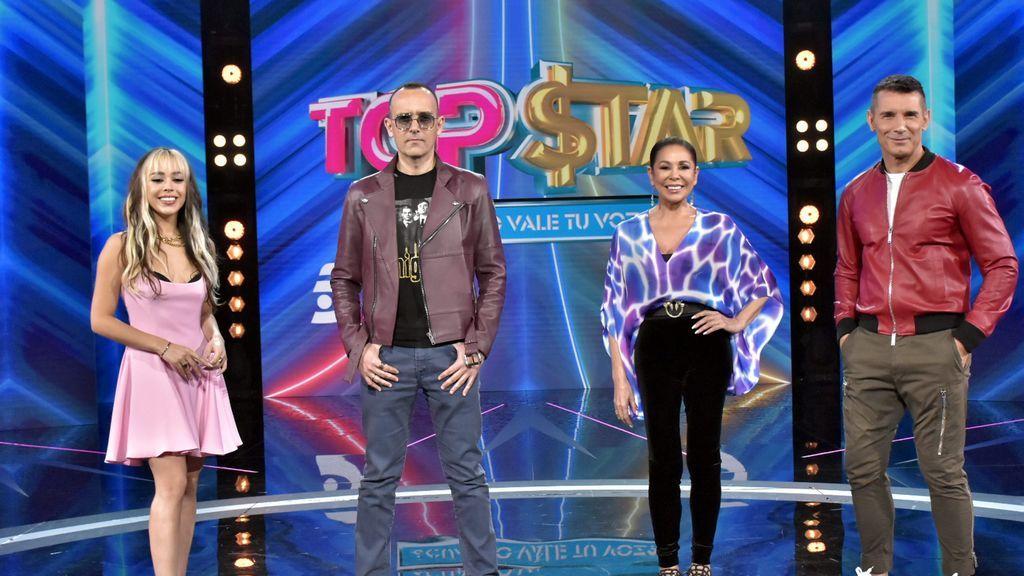 Isabel Pantoja con el equipo de 'Top Star'