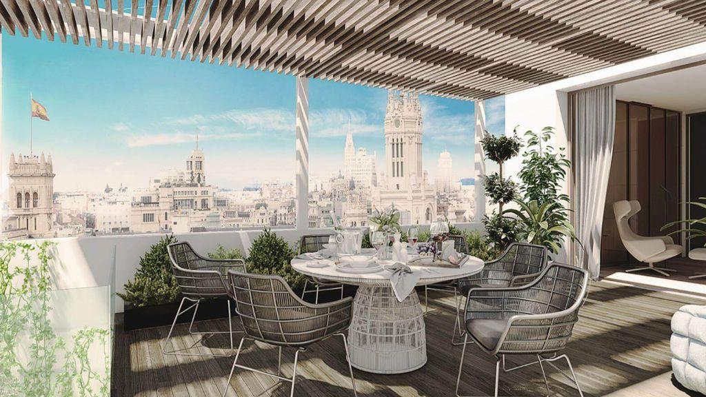 Se vende el ático más caro de Madrid: 14,6 millones repartidos en 750 metros, tres terrazas y piscina privada