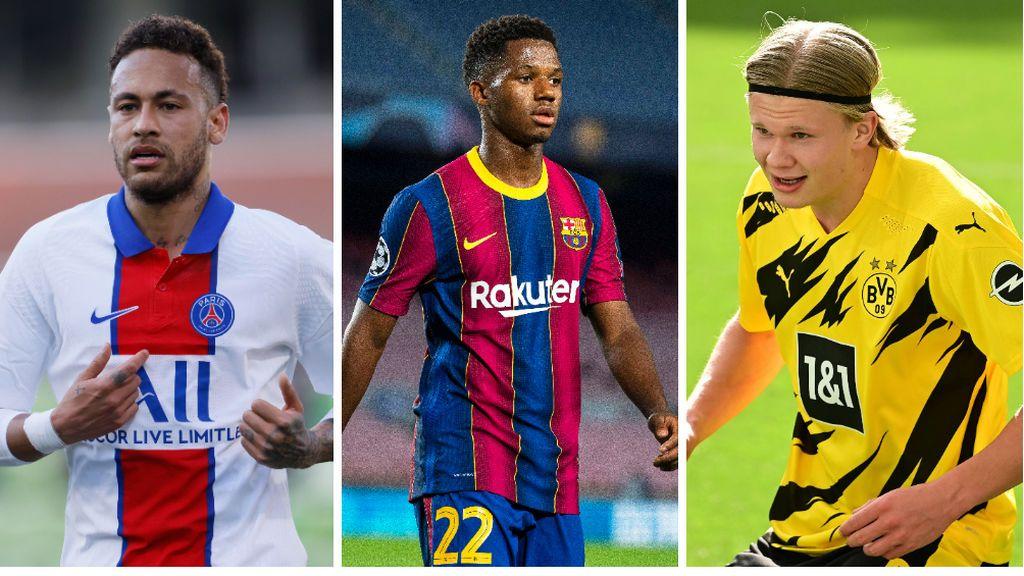 Ansu Fati será el delantero del Barcelona si llega Neymar: Laporta descartará la llegada de Haaland