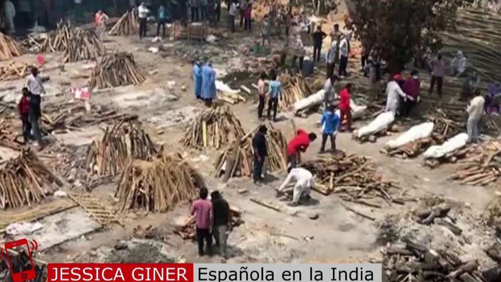 Española que ha pasado el covid en la India
