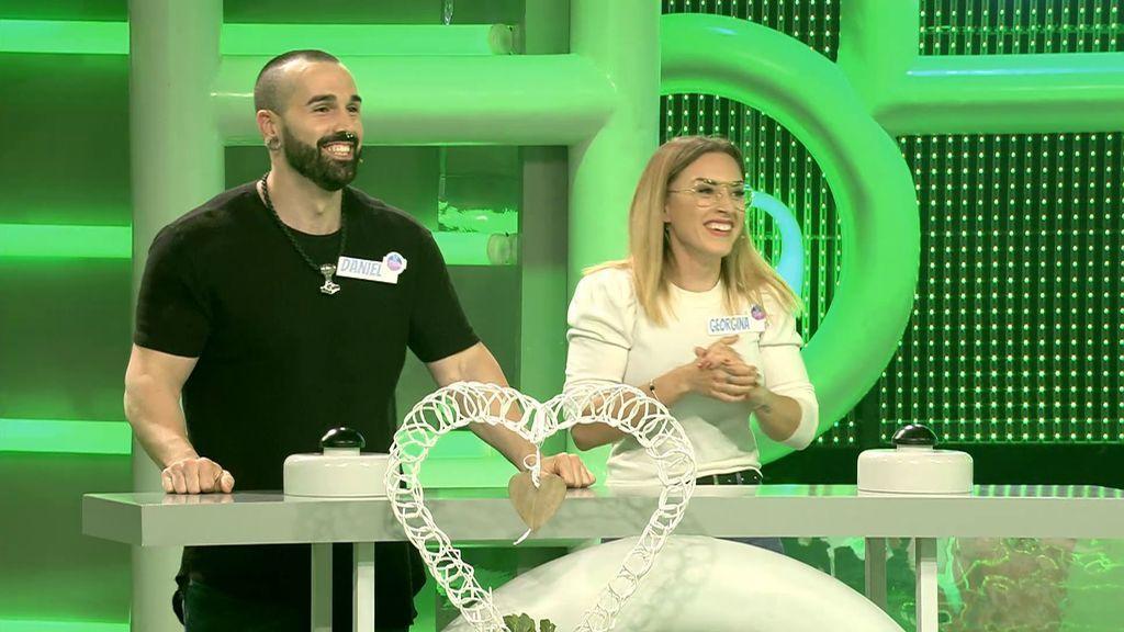 Dani y Georgina, una pareja de culturistas, consigue su sueño gracias a la ronda final
